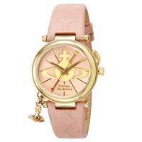 Vivienne Westwood土星粉色真皮表带金色土星手表VV006PKPK 14,195円(约909元)